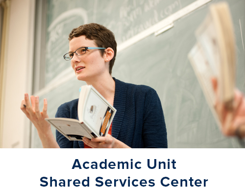 Click this graphic to go to the Academic Unit Shared Services Center.