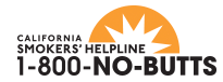 LOGO FOR THE CALIFORNIA SMOKERS HELPLINE SERVICE
